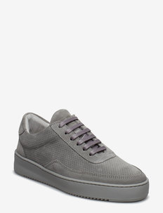 Low Mondo Ripple Suede Perforated - CEMENT GREY