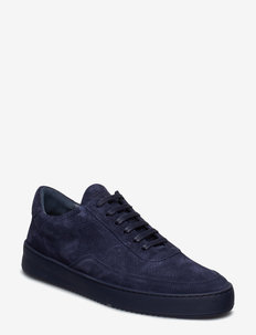 Low Mondo Ripple Suede Perforated - NAVY BLUE