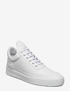Low Top Ripple Lane Nappa All White - WHITE