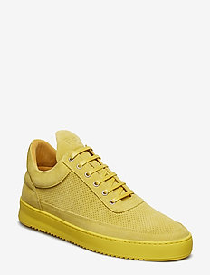 Low Top Ripple Suede Perforated - YELLOW