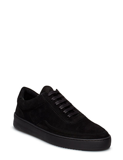 Low Mondo Ripple Suede Perforated - lave sneakers - all black