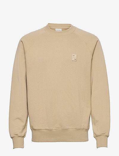 Lux Crewneck Pale Khaki - truien - beige