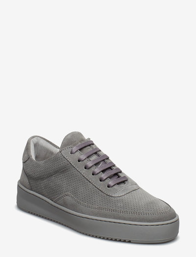 Low Mondo Ripple Suede Perforated - lave sneakers - cement grey