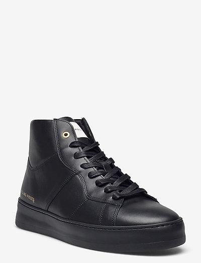 Mid Plain Court - hoog sneakers - black