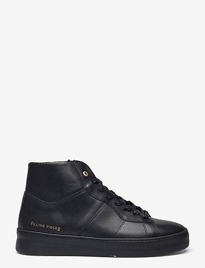 Mid Plain Court - höga sneakers - black