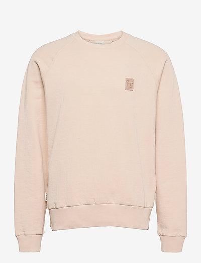 Essential Two Stripe Crewneck - swetry - beige