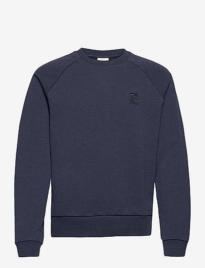 Essential Two Stripe Crewneck - swetry - blue
