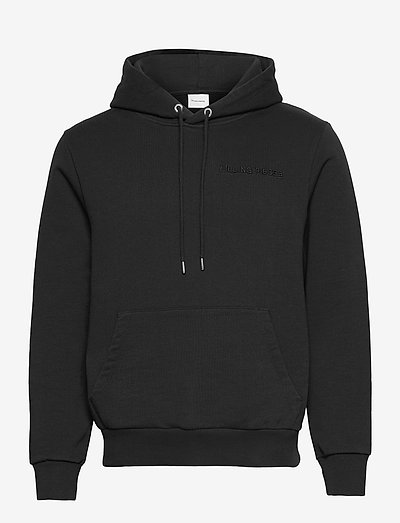 Essential Core Logo Hoodie - bluzy z kapturem - black