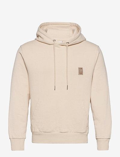 Essential Two Stripe Hoodie - bluzy z kapturem - beige