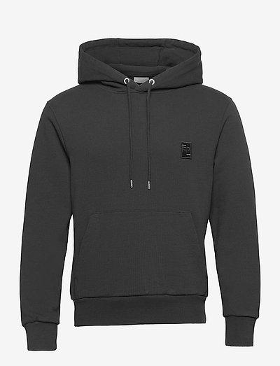 Essential Two Stripe Hoodie - bluzy z kapturem - black