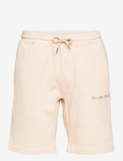 Essential Core Logo Sweat Shorts - krótkie spodenki - beige