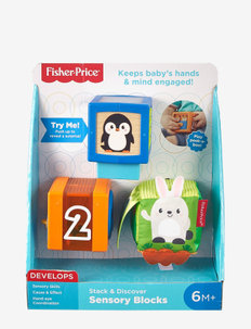 Fisher-Price Stack & Discover Sensory Blocks - baby toys - multi color