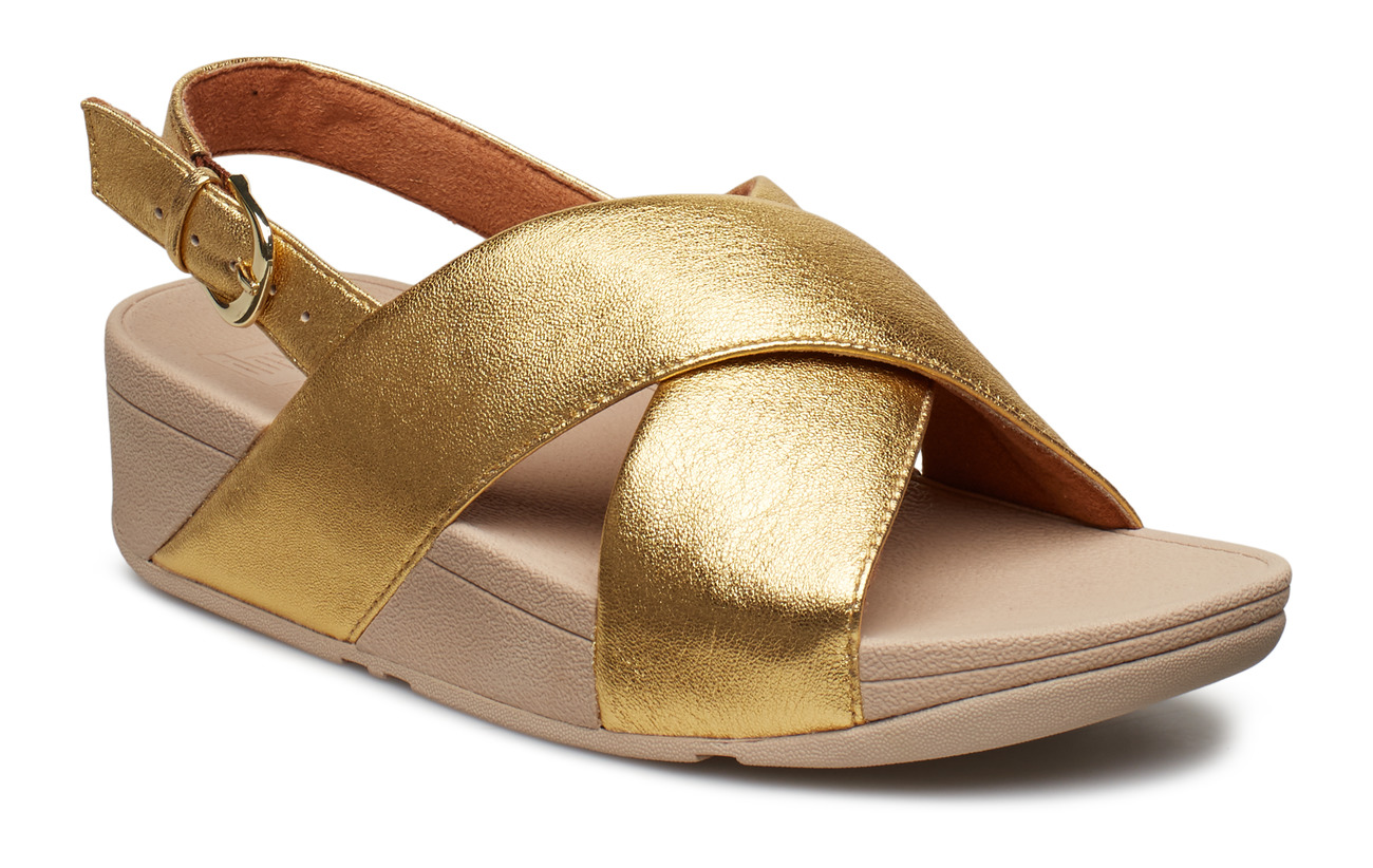 FitFlop LULU CROSS BACK-STRAP SANDALS - LEATHER - ARTISAN GOLD