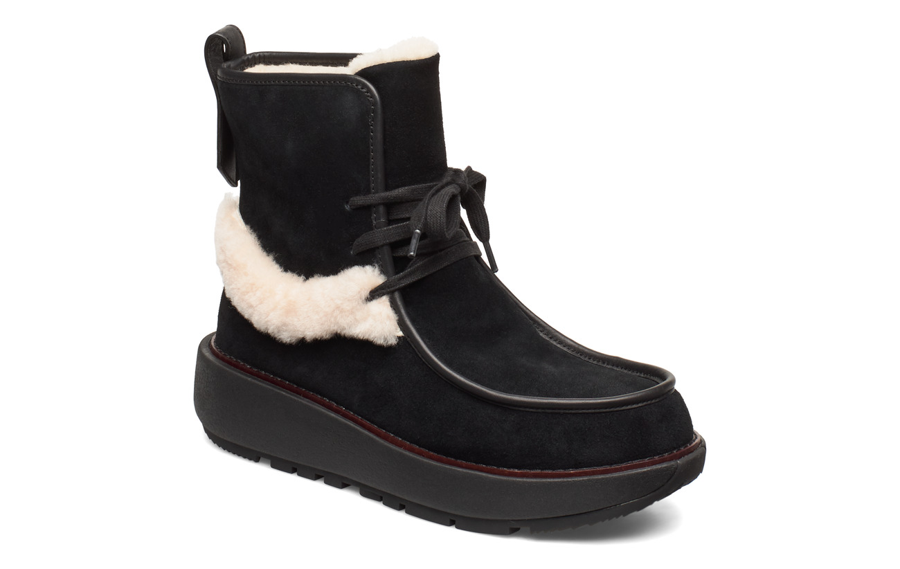 FitFlop Greta Moccassin Boot - ALL BLACK