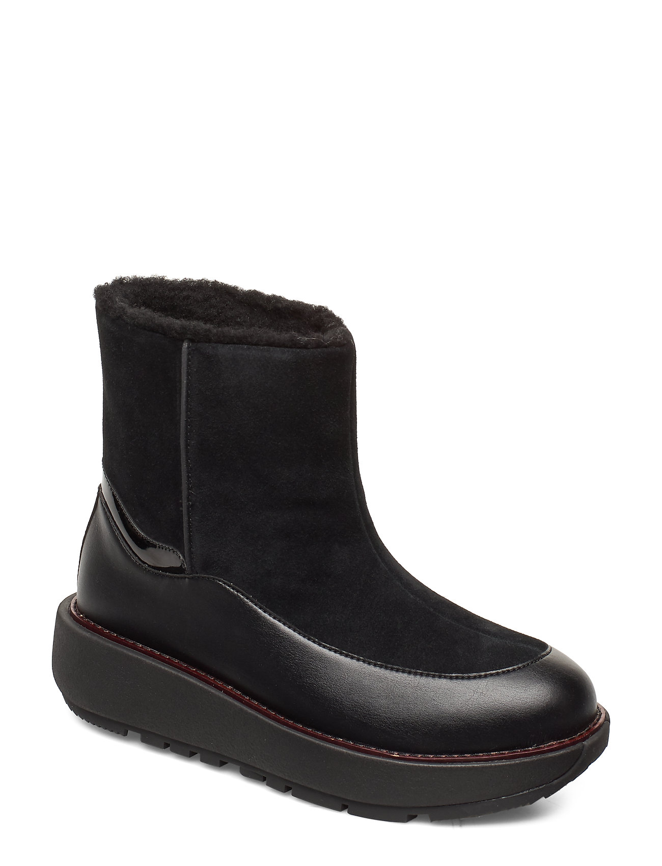 Image of Elin Snuggle Boot Shoes Boots Ankle Boots Ankle Boots Flat Heel Sort FitFlop (3233523709)