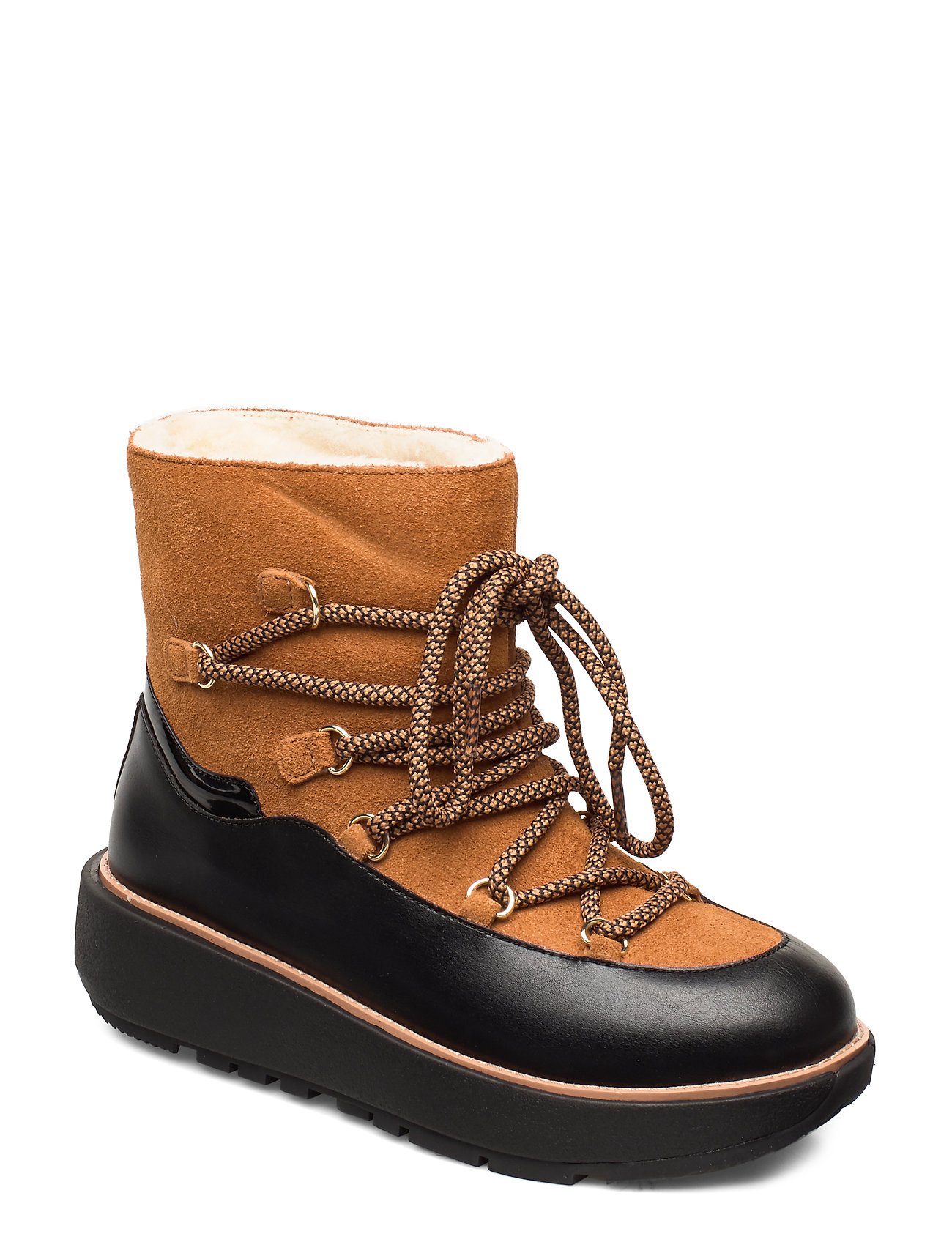 Image of Ebba Ski Ankle Shoes Boots Ankle Boots Ankle Boot - Flat Brun FitFlop (3406208993)