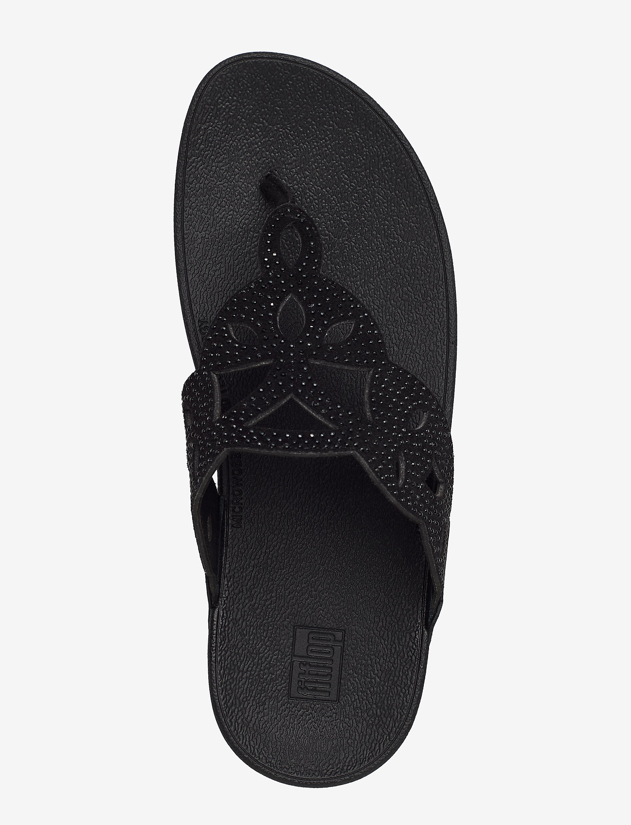 Elora Crystal Toe-thongs (All Black) - FitFlop