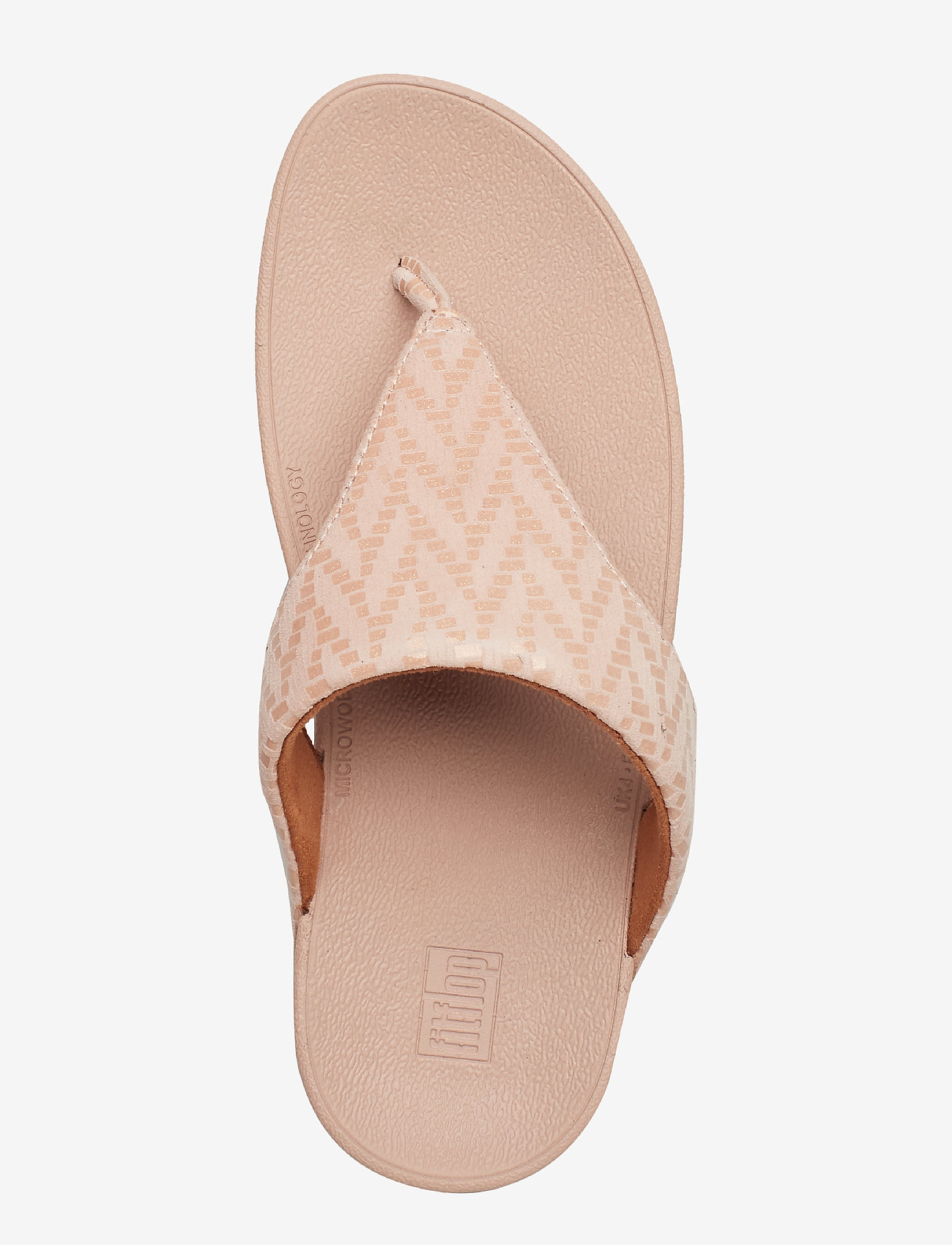 Lottie Chevron Sd Tp (Oyster Pink) - FitFlop