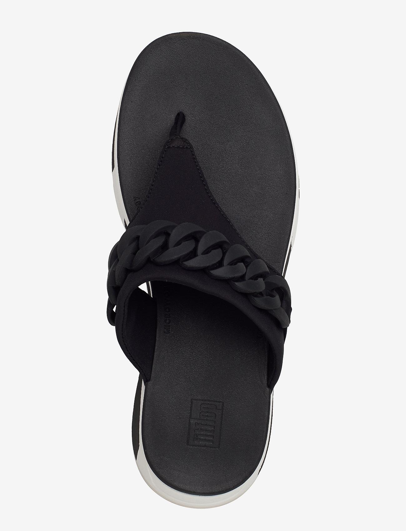 Heda Chain Toe-thongs (Black) - FitFlop