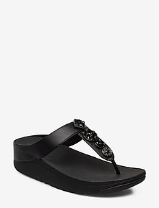 FINO CIRCLE TOE-THONGS - varvassandaalit - black