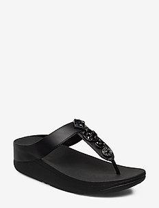 FINO CIRCLE TOE-THONGS - flip flops - black