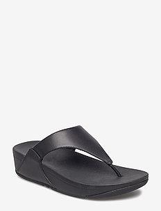 LULU LEATHER TOEPOST - płaskie sandały - black