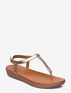 TIA TOE-THONG SANDALS - LEATHER - ROSE GOLD