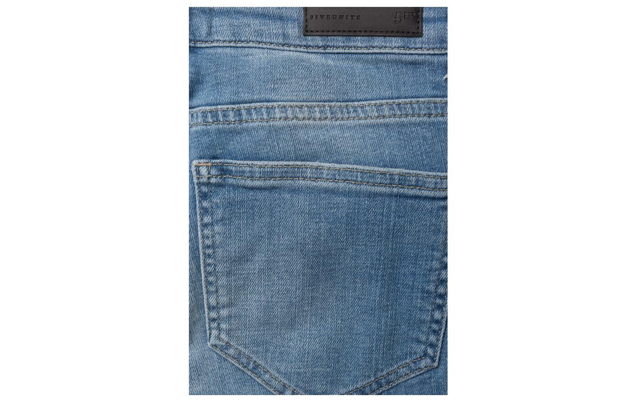94 Light 664 Ripped Ripped Coton 2 Elastane Polyester Atlanta Fiveunits Blue Jeans 4 Kate XF8wW6q6Tt