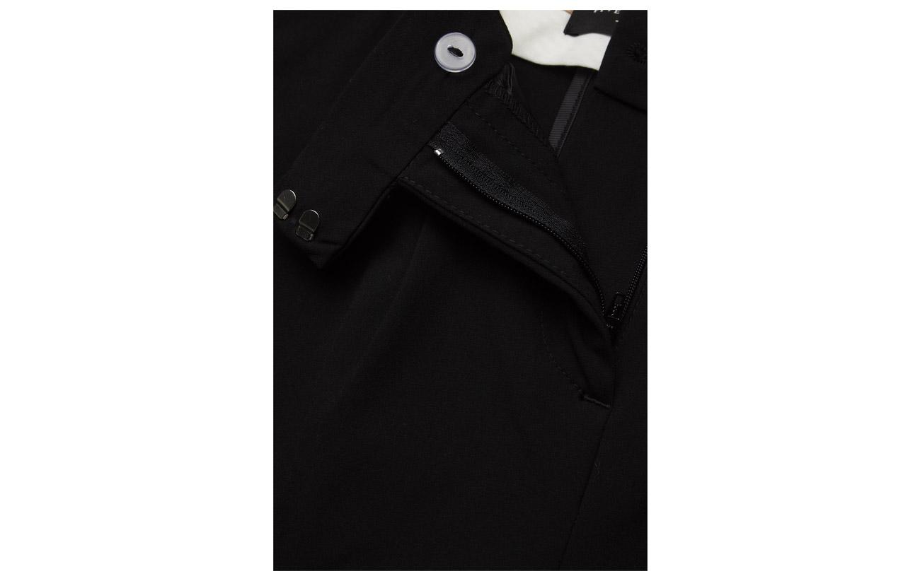48 Polyester Black Viscose 4 Crop 547 Ella Elastane Black Fiveunits Pants xwYSFpXq