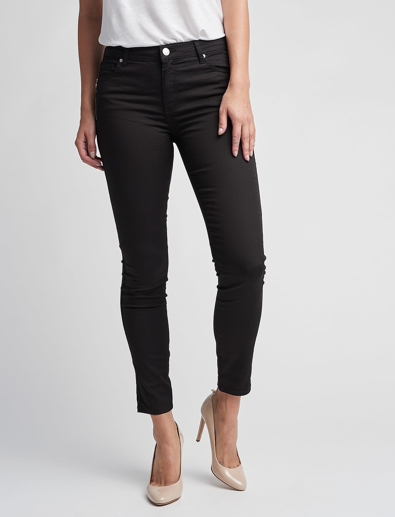 FIVEUNITS - Penelope 266 Zip, Black Line, Jeans - skinny farkut - black line - 0