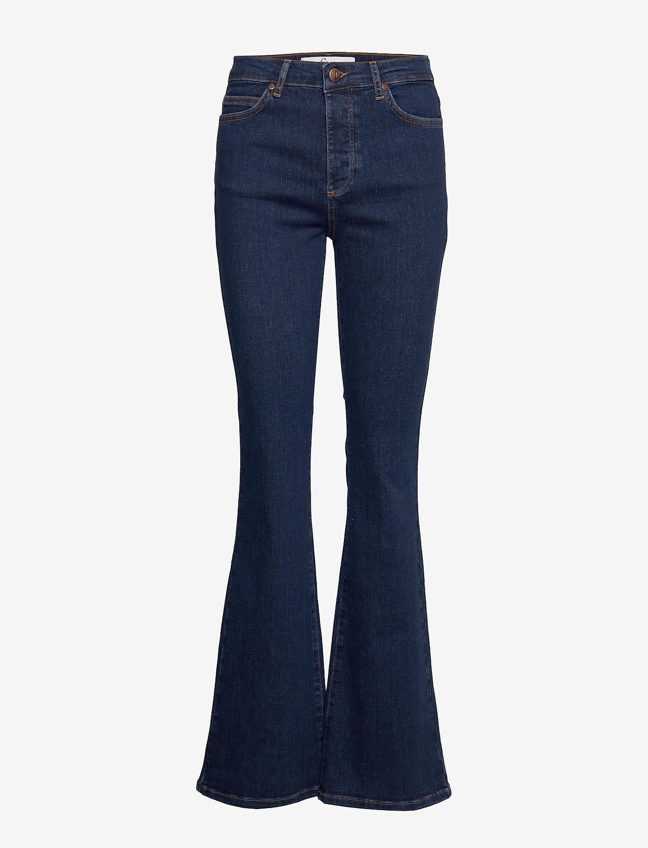 FIVEUNITS - Naomi 595 - utsvängda jeans - dark recycled - 0