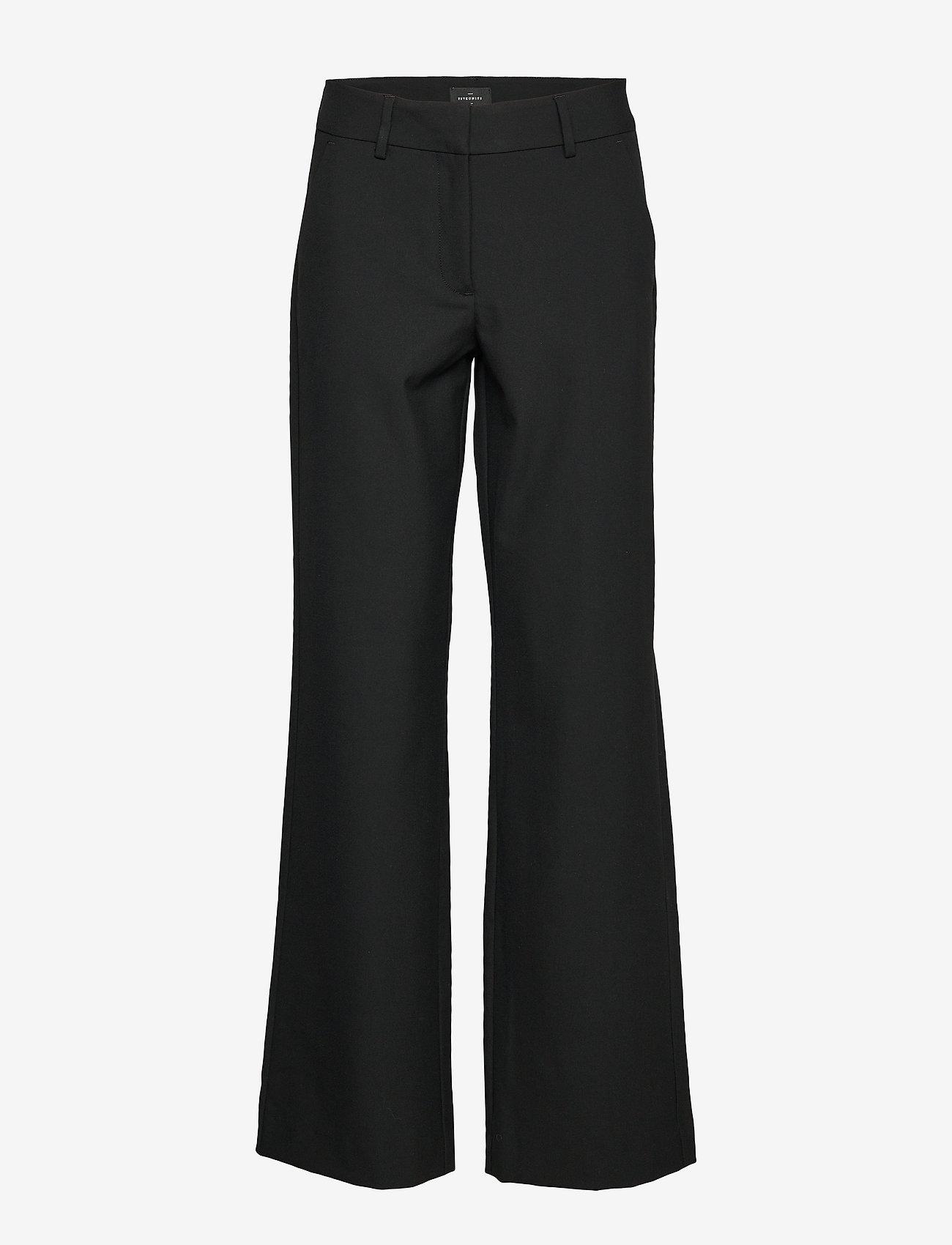 FIVEUNITS - Dena 285 Black Glow - bukser med brede ben - black glow - 0