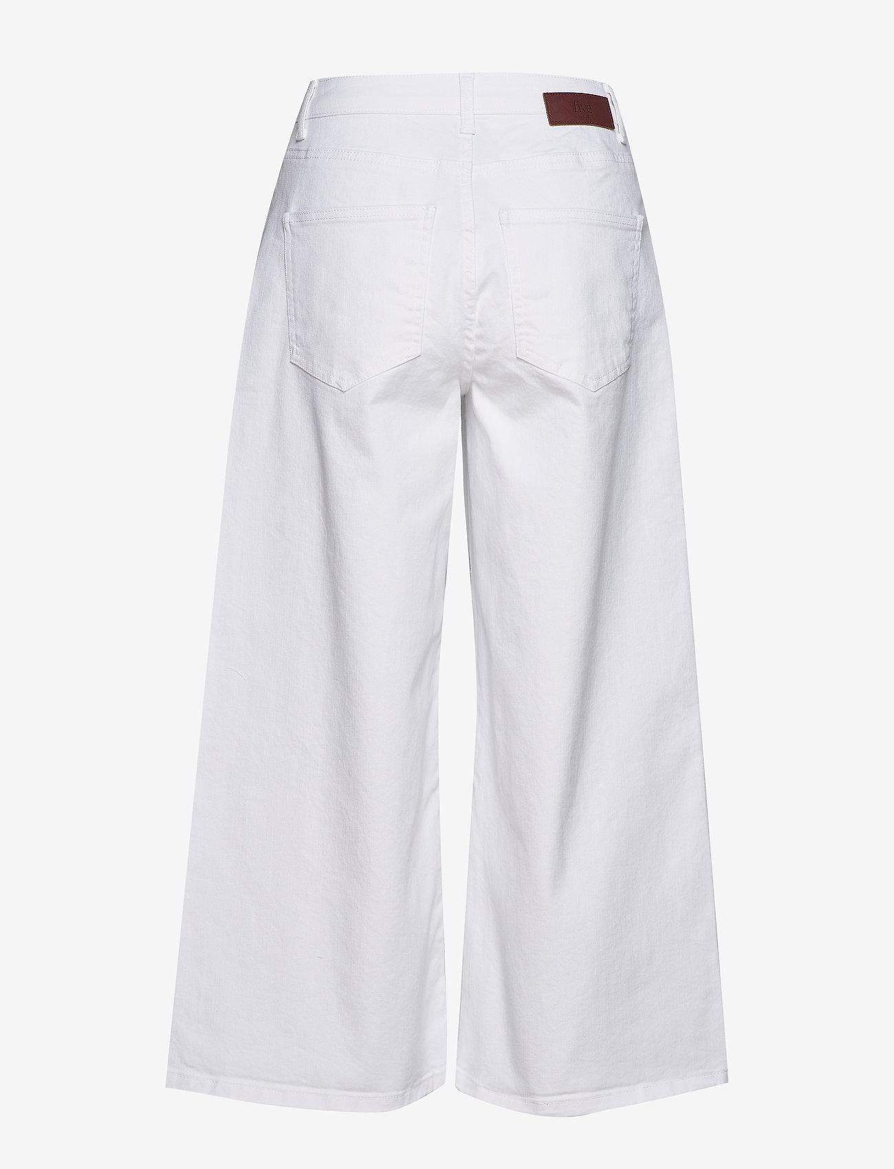 FIVEUNITS - Abby 686 Crop - broeken met wijde pijpen - white - 1