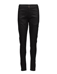 Jolie 274 Black Coated, Pants - BLACK COATED