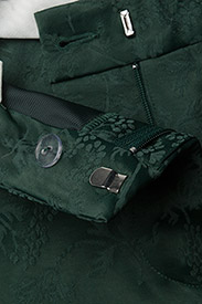 FIVEUNITS - Kylie 325 - slim fit-byxor - sateen green jacquard - 3