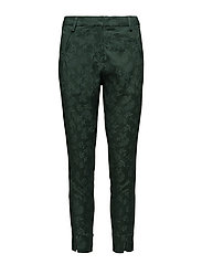 Angelie 325 Split, Sateen Green Jacquard, Pants - SATEEN GREEN JACQUARD