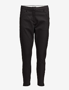 Angelie 238 Zip Black - straight leg trousers - black