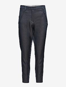 Angelie 451 Split - spodnie proste - navy blush