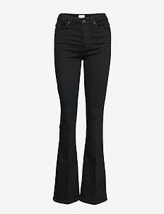 Naomi 241 Black Auto Jeans - utsvängda jeans - black auto