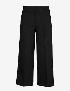 Dena 285 Crop Black Glow - bukser med brede ben - black glow