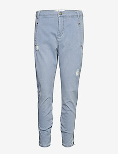 Jolie 455 Zip - boyfriend jeans - steel blue raini