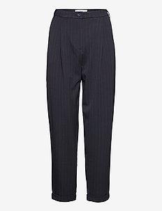 Malou 985 - spodnie proste - navy wide pin