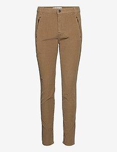 Jolie 969 - slim fit spodnie - khaki cord