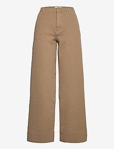 Abby 558 - vide bukser - khaki gabardine