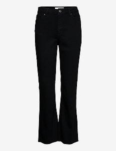 Naomi Ankle Raw 241 - utsvängda jeans - black