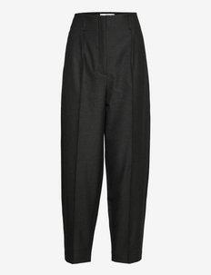 Hailey - broeken med straight ben - dark grey melange