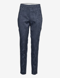 Angelie Pure Navy Flow Jaquard - casual byxor - navy flow jacquard