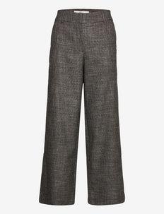Dena Ankle - uitlopende broeken - black white check