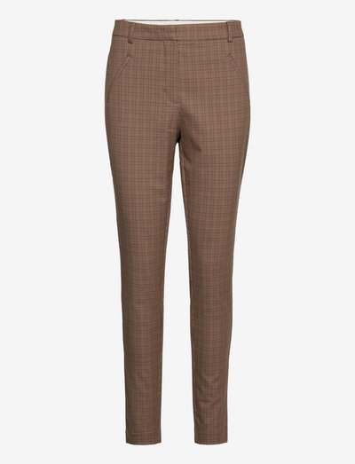 Angelie Pure 525 - slim fit-byxor - small brown check