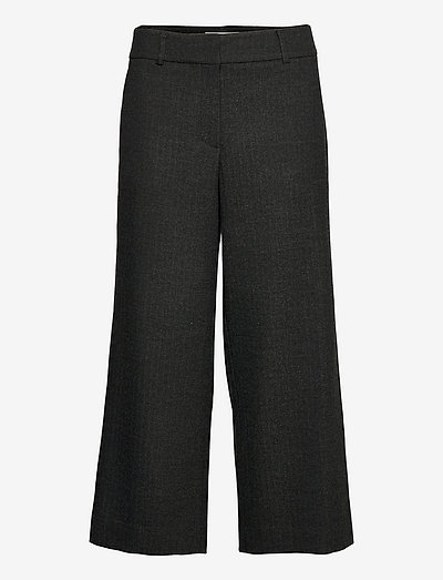Dena Crop 546 - kostymbyxor - black grand herringbone